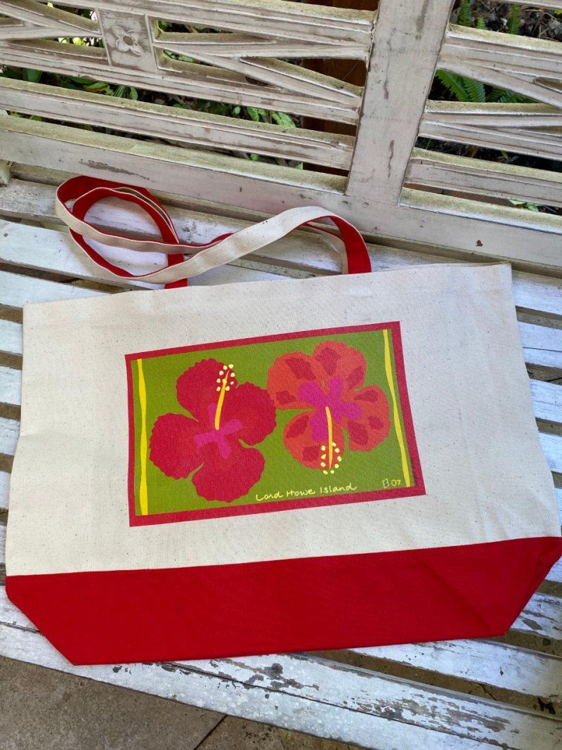 Lord Howe Island art Island hibiscus tote bag