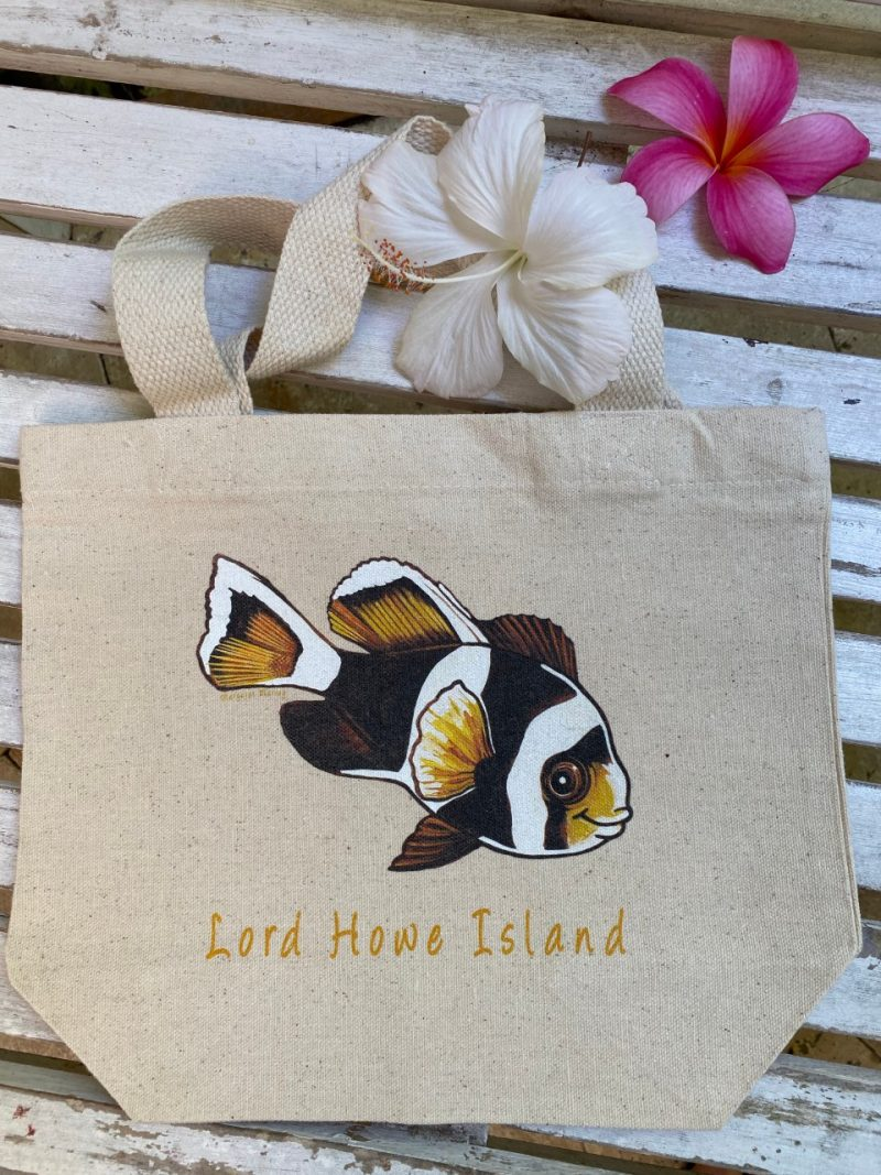 Lord Howe Island art 'McCulloch's Anemone fish' - juvenile tote bag