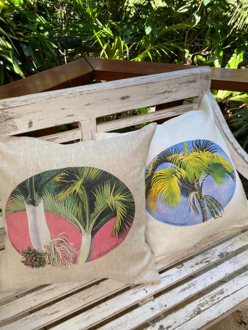 Lord Howe Island Palm art cushion cover