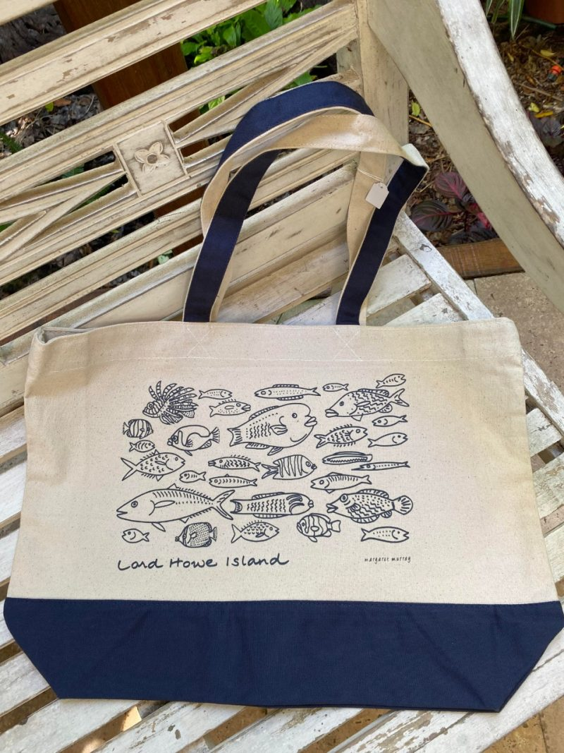 Lord Howe Island fish art tote bag