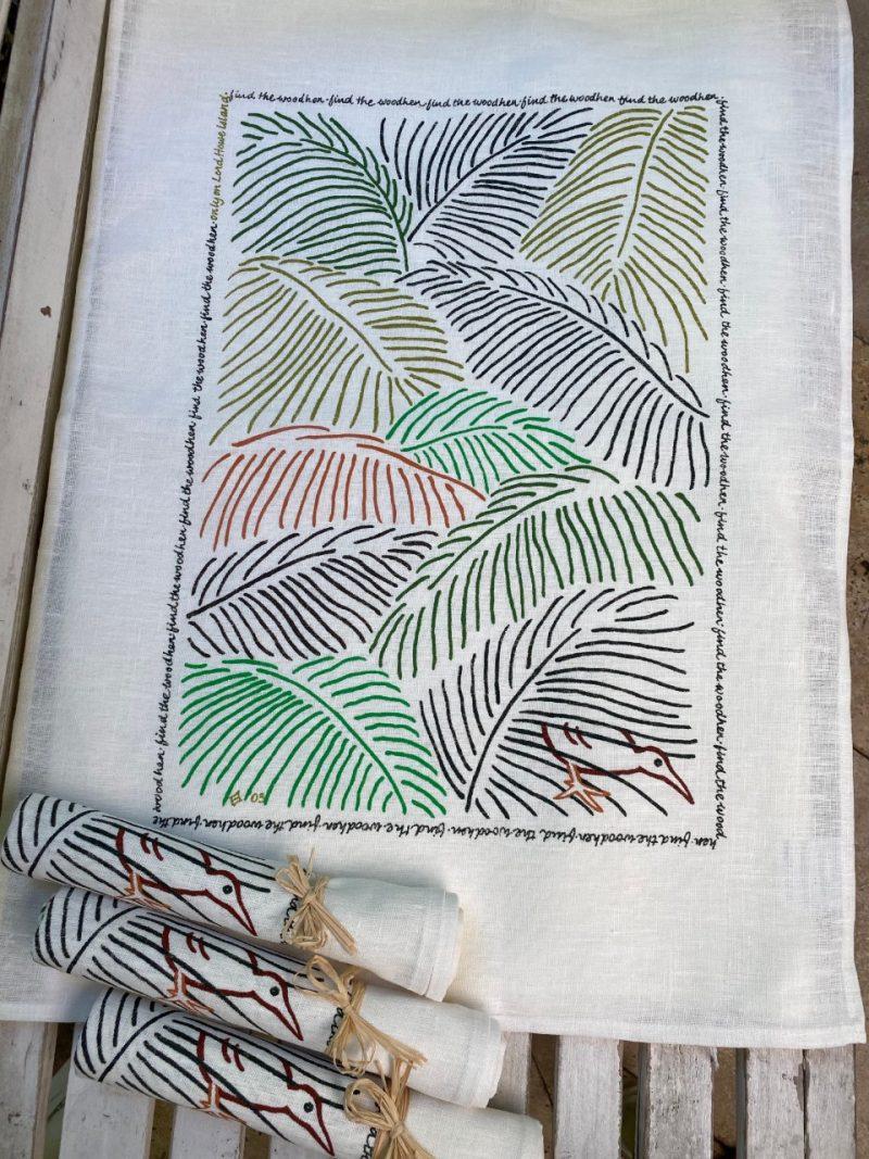 Lord Howe Island Palm art tea towel