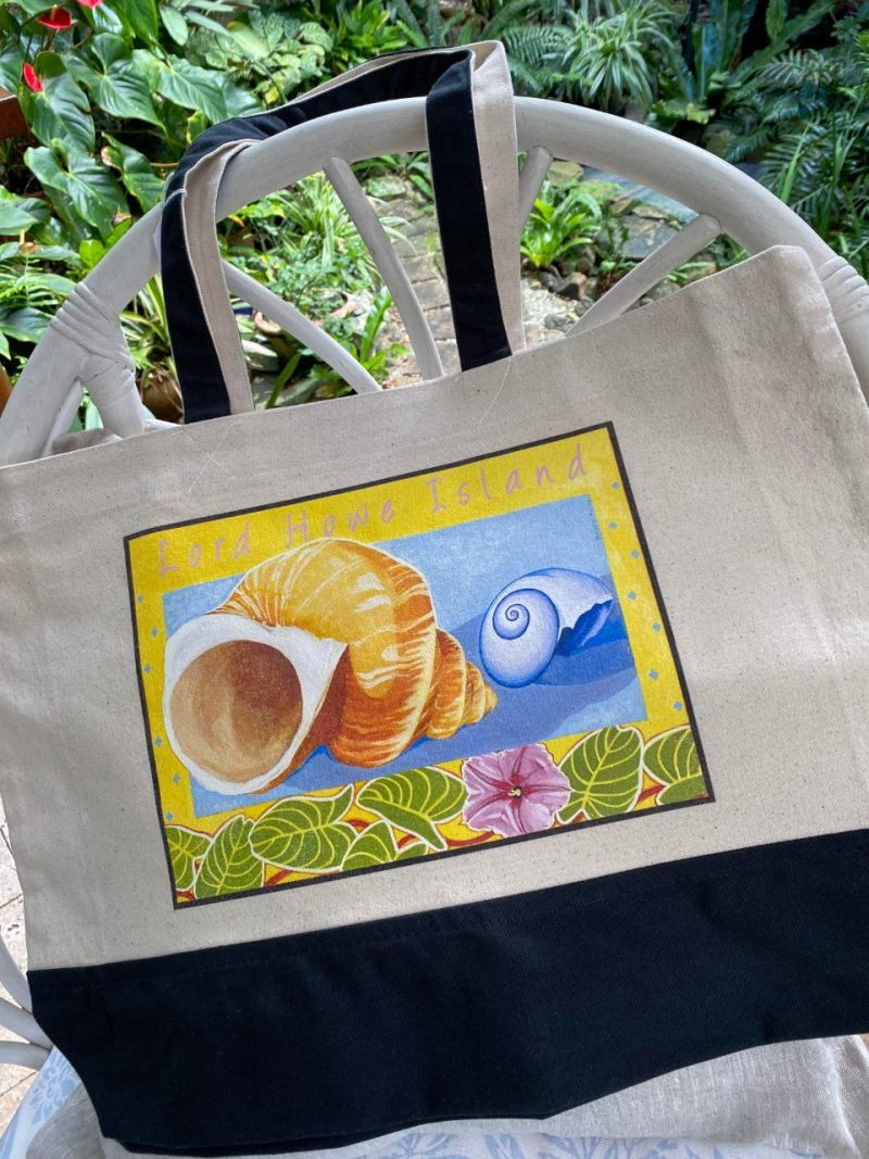 Lord Howe Island turban shell art tote bag